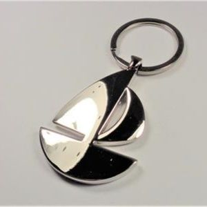 Other - AIRCRAFT METAL SILVER SAILBOAT NAUTICAL KEY CHAIN